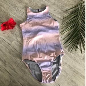 Zella girl pink and purple one piece swimsuit
